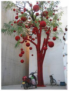 http://laindianacolonial.com/foto-del-dia-arbol-tejido/    Árbol tejido - by  r o x a n a