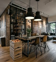 29 Awesome Industrial Style Decor Designs That You Can Create For Your Urban Living Space Apartment Industrial Design No. 29 Awesome Industrial Style Decor Designs That You Can Create For Your Urban Living Space Apartment Industrial Design No. Modern Industrial Decor, Industrial Style Lighting, Industrial Interior Design, Industrial House, Best Interior Design, Industrial Apartment, Interior Design Inspiration, Interior Design Living Room, Interior Decorating