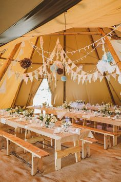 Image by By Ed Peers. - An Epic DIY Bohemian Wedding At Ratfyn Farm With A Jenny Packham Dress And A Humanist Ceremony And A Peach Colour Scheme Photographed By Ed Peers.