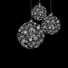 Black And White Christmas Balls Stock Photo, Picture And Royalty . Black Christmas, Christmas Balls, Christmas Colors, Rustic Christmas, Christmas Holidays, Christmas Wreaths, Christmas Crafts, Christmas Decorations, Christmas Ornaments