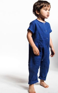 Image of Louie Jumpsuit Kid Closet, Up Styles, Gender Neutral, Diy Clothes, Kids Fashion, Overalls, Baby Boy, Short Sleeves, Jumpsuit
