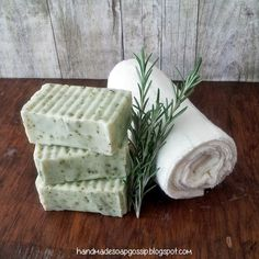 Handmade Soap Gossip: Garden Rosemary Soap
