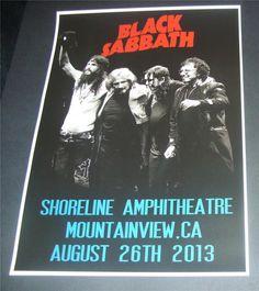 Black Sabbath concert poster Shoreline Amphitheatre,CA 2013 A3 size repro