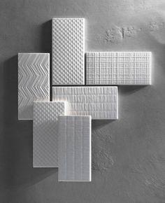 Serien Canvas; Hvit matt og blank, 8 alternative hypermoderne tekstil-mønstre. #norfloor