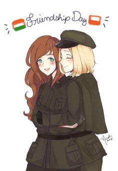 Hetalia: Hungary And Poland 😍 Poland Hetalia, Axis Powers, Eastern Europe, Doujinshi, Manga Anime, Kawaii, Fan Art, Wattpad, Comics