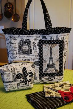 Ooh, la-la!!! Handbag and make-up bag