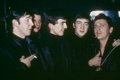 1961 - Paul McCartney, Pete Best, George Harrison, John Lennon and Gene Vincent.