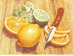 Jerry O.Wilkerson Pointillism Painting.