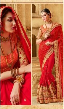 Indian Traditional Georgette,Net and Deep Scarlet Sarees Online Shopping #party , #wear, #saree, #saris, #indian, #festive, #fashion, #online, #shopping, #designer, #usa, #henna, #boutique, #heenastyle, #style, #traditional, #wedding, #bridel, #casual, @heenastyle , #blouse, #prestiched, #readymade, #stiched , #lehegasaris, #sari, #saris