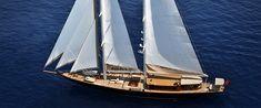 In the movie SkyFall, James Bond (Daniel Craig) and Severine (Bérénice Marlohe) sail on the Pruva Regina yacht.
