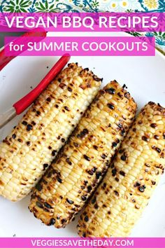 This collection of Vegan BBQ Recipes for Summer Cookouts is all you need for grilling season. And you'll find tips on what vegans should bring to a BBQ. Vegan Bbq Recipes, Delicious Vegan Recipes, Grilling Recipes, Meatless Recipes, Vegan Snacks, Vegan Dinners, Vegetarian Food, Free Recipes, Vegan Grilling