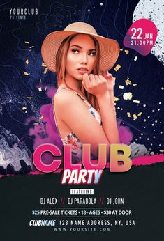 Download the Free Club Party Music PSD Flyer Template! - Free Club Flyer, Free Flyer Templates, Free Party Flyer - #FreeClubFlyer, #FreeFlyerTemplates, #FreePartyFlyer - #Club, #Dance, #Disco, #DJ, #Electro, #Music, #Night, #Nightclub, #Party