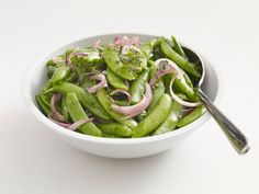 Get Herbed Snap Peas Recipe from Food Network