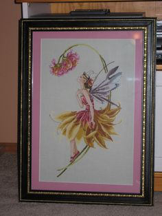 """""""The Petal Fairy"""" by Mirabilia. I did this for my daughter years ago. Beautiful yellow and pink skirt and transparent lilac wings. Cross Stitching, Cross Stitch Embroidery, Cross Stitch Patterns, Flower Petals, Diy Flowers, Flower Diy, Cross Stitch Gallery, Cross Stitch Supplies, Star Stitch"""