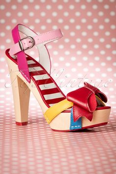 Lola Ramona 50s Yvonne Red Bow Sandals