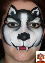 husky face paint
