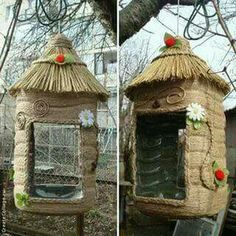 Why Build a Bird Aviary? Bird House Feeder, Diy Bird Feeder, Easy Crafts, Diy And Crafts, Crafts For Kids, Wood House Design, Bird Houses Diy, Plastic Bottle Crafts, Diwali Decorations