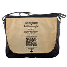 Front Piece to A Midsummer Night s Dream Quarto Messenger Bag Midsummer  Nights Dream 1868a6e94c450