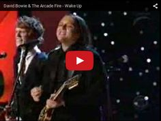 Watch: David Bowie and The Arcade Fire - Wake Up See lyrics here: http://thearcadefirelyrics.blogspot.com/2010/09/wake-up-lyrics-arcade-fire.html #lyricsdome