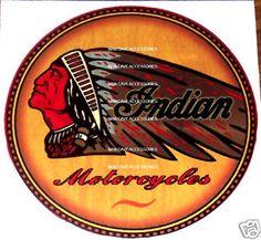 Vintage INDIAN Motorcycles Vinyl Decal Sticker | eBay
