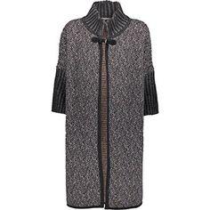 Chiaramente Grey Chevron Knit Coatigan