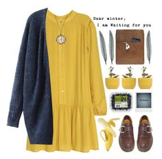 """Cozy Dress"" by josie-girl ❤ liked on Polyvore featuring H&M, Dr. Martens, Palila, Dot & Bo and Polaroid"