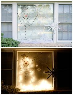 Light Up Christmas Scene - This is so much easier than other Christmas light displays!