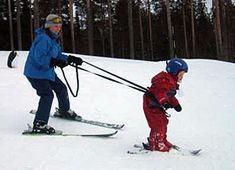 Skiing with children... Yeah I don't do that with my daughter, I can't control myself going downhill :P