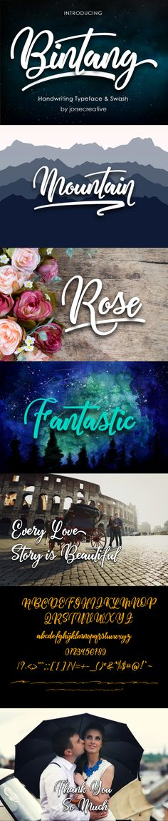 Bintang Handwritting Typeface - Fonts