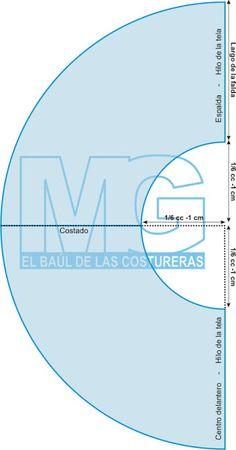Trazado falda media campana | EL BAÚL DE LAS COSTURERAS