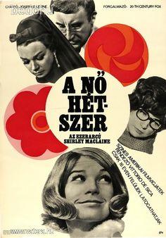 régi filmplakát: A NŐ HÉTSZER, amerikai film, 1968 - Vatera.hu Eastern Europe, Budapest, Graphic Design, Retro, Gallery, Cover, Books, Films, Movie Posters