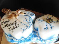 Ice Age Scrat cake
