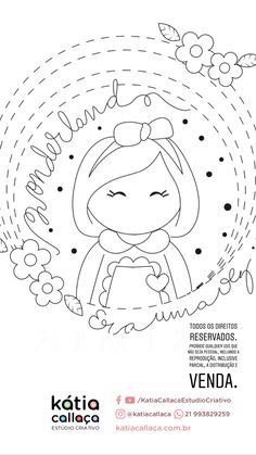 Embroidery Hoop Crafts, Hand Embroidery Videos, Embroidery Patterns Free, Hand Embroidery Patterns, Cross Stitch Embroidery, Cute Coloring Pages, Card Sketches, Sewing Crafts, Fabric Dolls