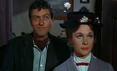 """3. """"Mary Poppins"""" (1964) - Julie Andrews won an Oscar for her performance in this magical Disney musical based upon the """"Mary Poppins"""" books series by P. L. Travers. Directed by Robert Stevenson, this classic film also starred Dick Van Dyke, David Tomilson, Glynnis Johns, Karen Doctrice, Matthew Garber and Ed Wynn."""