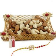Rakhi tray with dry fruits
