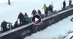 Chaos Ensues When These Snow Tubers Don't Follow Conveyor Belt Rules