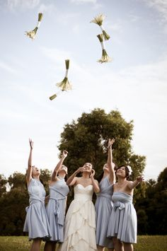 The powder blue is exactly the color I want on my bridesmaids' dresses!