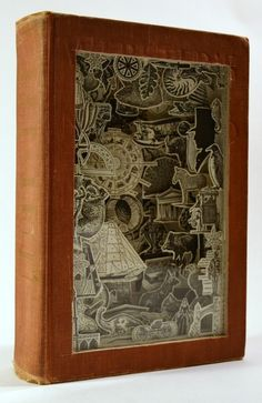 Altered Book - Not only leaving the words behind to be discovered but beautifully detailed paper artwork