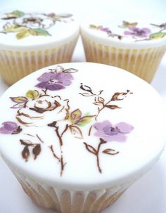 Wow! .....just wow these are beautiful!!! Think how fun it would be to paint cupcakes, but how much time it would take on each one...