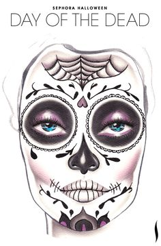 Need a Halloween look? Get inspiration from the Day of the Dead face chart created by our talented Sephora artists.
