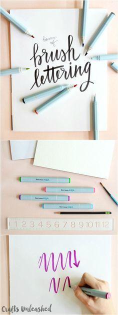 Basics of Brush Hand Lettering with Spectrum Noir Aqua Markers