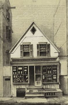 '120 William Street - New York, NY, USA, 1856 Last example of old Dutch buildings of Old Amsterdam'