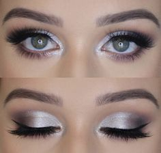 Makeup inspiration in 2019 beauty makeup, hazel eye makeup, grey eye makeup. Bird Makeup, Grey Eye Makeup, Silver Eye Makeup, Grey Eyeshadow, Hazel Eye Makeup, Dramatic Eye Makeup, Eye Makeup Steps, Colorful Eye Makeup, Eye Makeup Remover