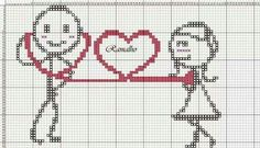 Lasso me a man. Cross Stitch Pillow, Cross Stitch Heart, Cross Stitch Borders, Cross Stitching, Cross Stitch Patterns, Embroidery Applique, Cross Stitch Embroidery, Embroidery Patterns, Graph Paper Art