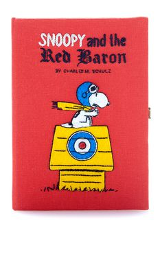 Snoopy Red Baron Book Clutch by Olympia Le-Tan Book Clutch, Red Clutch, Embroidery Purse, How To Make Purses, Olympia Le Tan, Red Handbag, Red Purses, Cute Bags, Baron