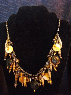 Some BLING just for you.  Lots of detail.  Made with paper beads. Paper Pearls Jewelry. $35.00