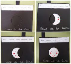 PEQUENINES: FASES DE LA LUNA: PLÁSTICA Stem Science, Science Experiments Kids, Science For Kids, Science Projects, Social Science, School Projects, Art For Kids, Galaxy Projects, Moon Projects