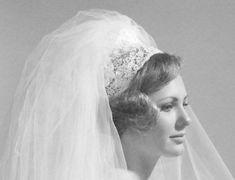 Darlene Parman, 1969 Vintage Wedding Photos, Vintage Bridal, Wedding Veils, Wedding Dresses, Bridal Headpieces, Vintage Dresses, One Shoulder Wedding Dress, Brides, Tulle