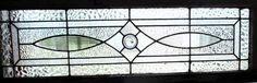 ~ ANTIQUE AMERICAN STAINED GLASS TRANSOM WINDOW 16.5 x 40 ARCHITECTURAL SALVAGE