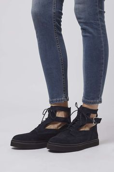 ATTACK Cut-Out Boots - View All - Shoes - Topshop